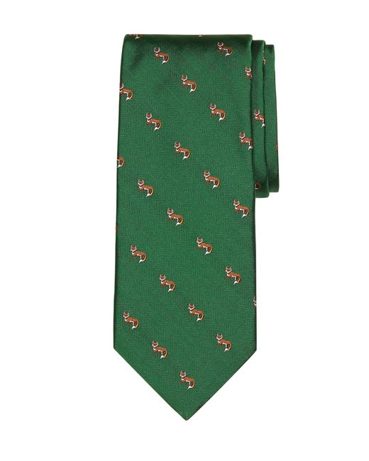Brooks Brothers | Green Fox Tie for Men | Lyst