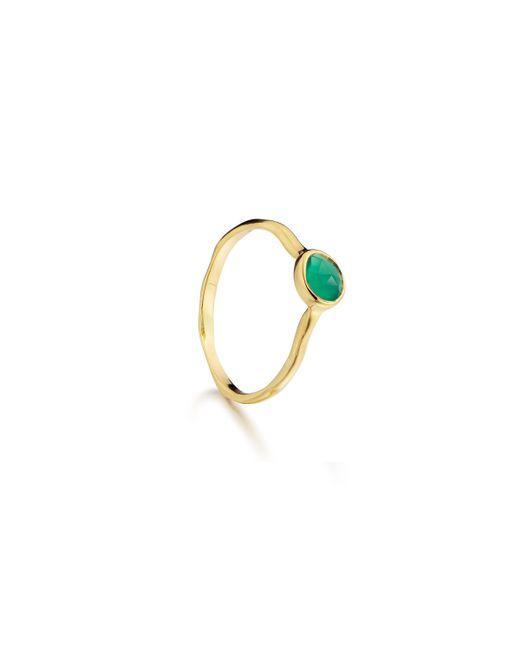 Monica Vinader   Green Siren Small Stacking Ring   Lyst