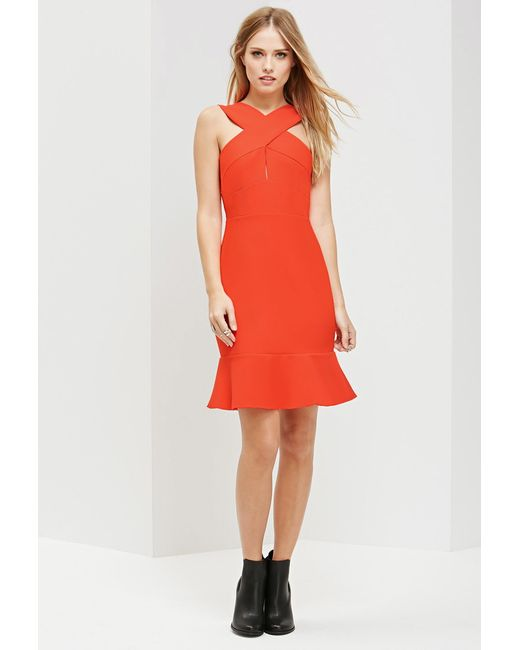 Forever 21 | Red Ministry Of Style Ardent Trumpet Dress | Lyst