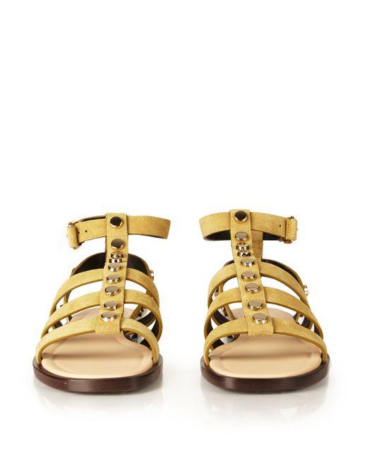 balenciaga amp studembellished suede gladiator sandals in