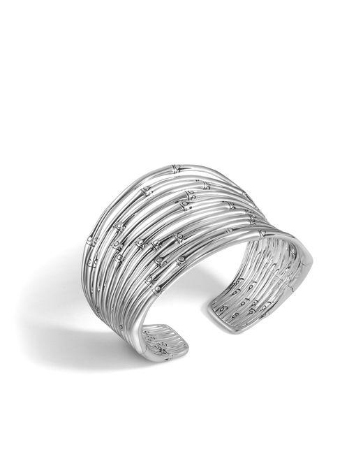 John Hardy | Metallic Bamboo Cuff | Lyst