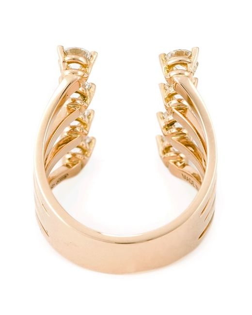 Delfina Delettrez | Metallic Diamond 'dots' Ring | Lyst