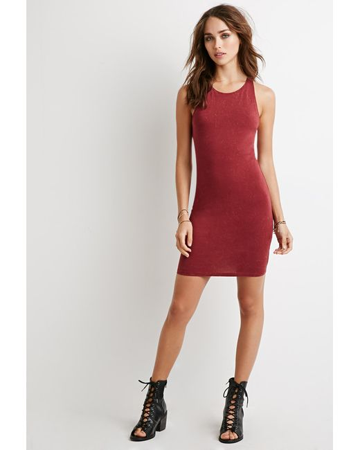 Forever 21 | Purple Racerback Bodycon Dress | Lyst