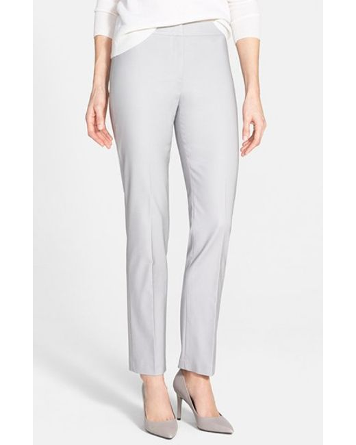 NIC+ZOE | Gray The Perfect Ankle Pants | Lyst