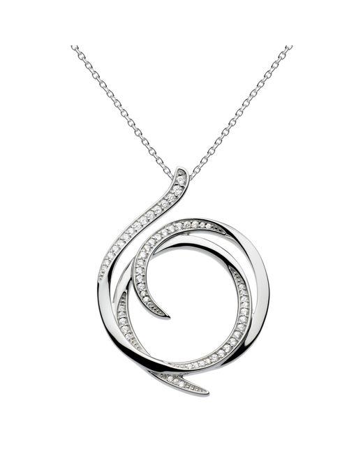 Kit Heath | Metallic Sterling Silver Cubic Zirconia Regent Helix Pave Necklace | Lyst