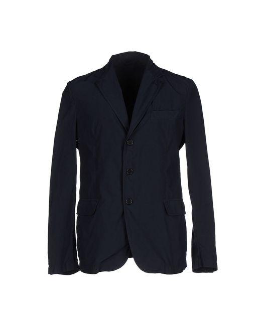 Aspesi | Blue Overcoat for Men | Lyst