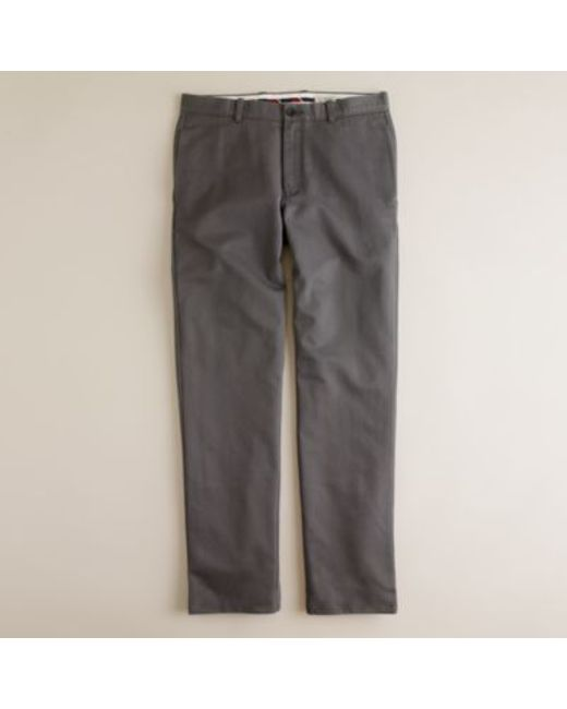 J.Crew | Gray Essential Chino Pant In 770 Straight Fit for Men | Lyst