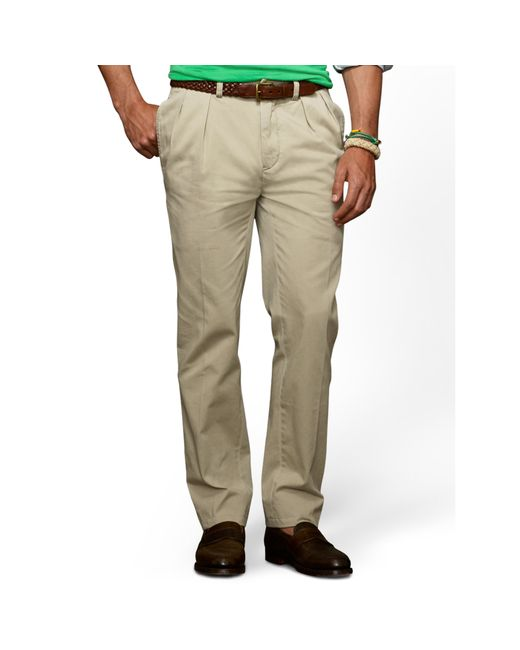 Polo Ralph Lauren | Brown Classic Fit Pleated Pant for Men | Lyst