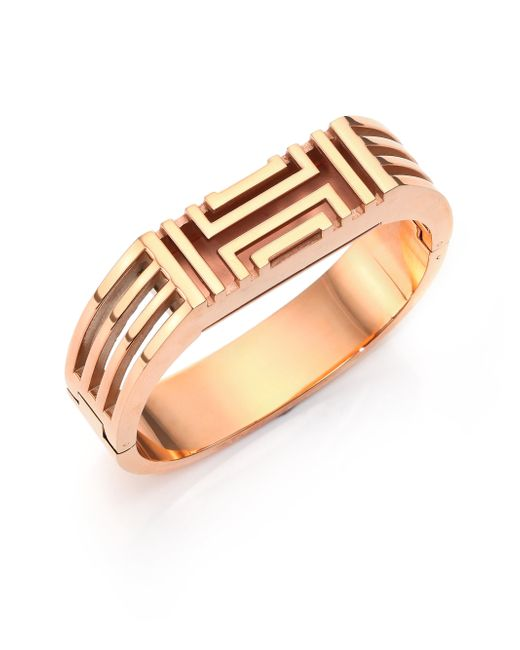 Tory Burch For Fitbit Bangle Bracelet In Pink Rose Gold