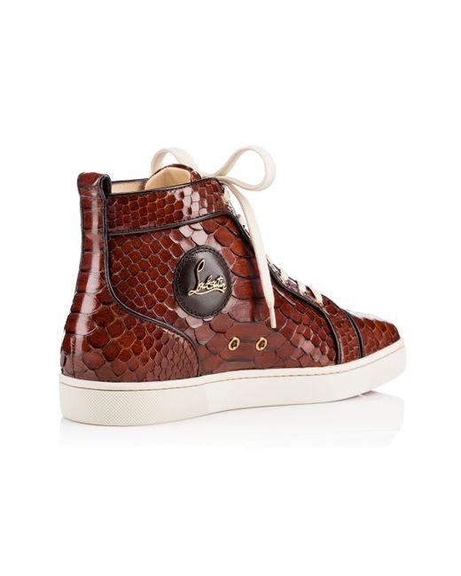 christian louboutin python high-top sneakers