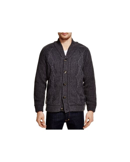 Cardigan With Patches On Sleeves Mens