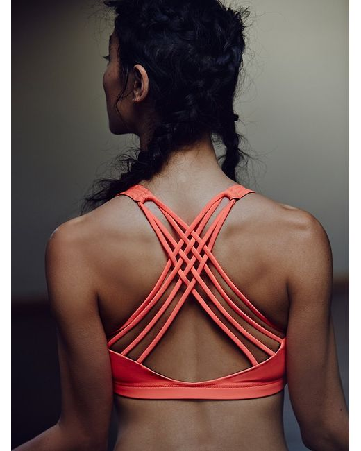 Free People | Red Solid Chic Bra | Lyst