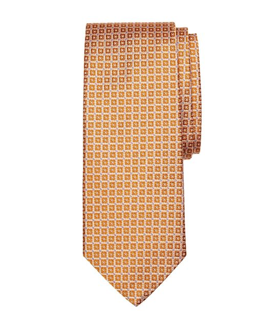 Brooks Brothers | Orange Flower In Square Tie for Men | Lyst