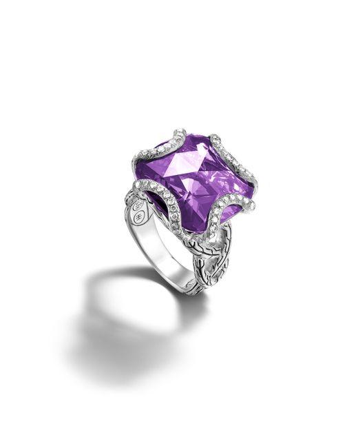 John Hardy | Metallic Large Braided Ring | Lyst