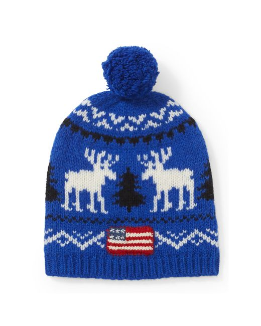 Polo Ralph Lauren | Blue Reindeer Wool Hat for Men | Lyst
