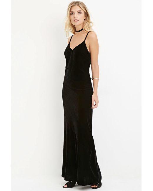 Forever 21 | Black Velvet Cami Dress | Lyst