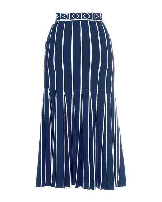 pilotto navy index knit skirt in blue navy save