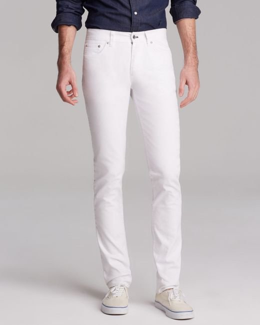 Blk dnm Jeans - Resin Coated 5 Slim Fit In Astor White in White for Men (Astor White) - Save 26% ...
