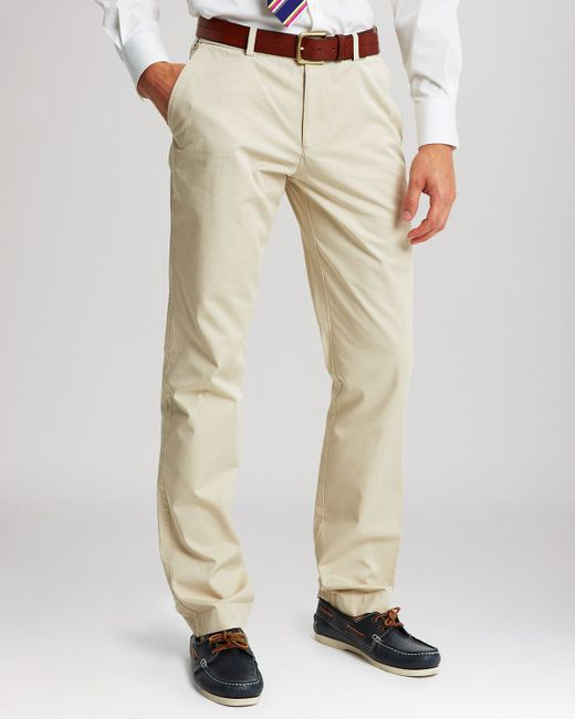 Thomas Pink | Beige Voltaire Straight Fit Chino Pants for Men | Lyst