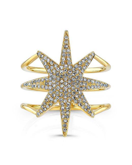 Anne Sisteron - Metallic 14kt Yellow Gold Diamond Star Ring - Lyst