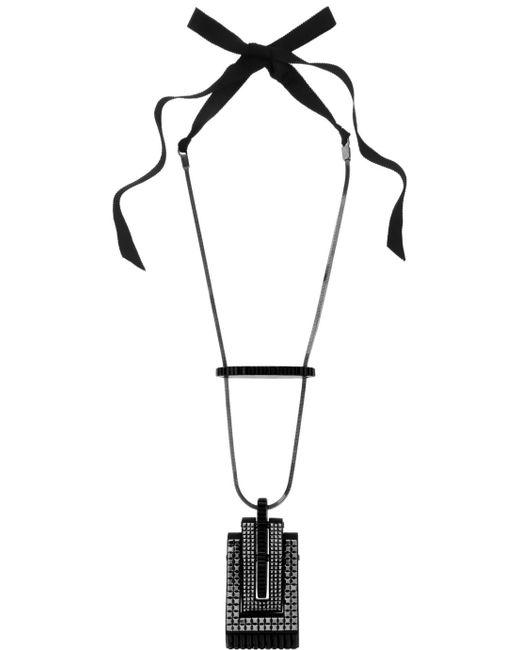 Lanvin   Pewter-plated Blackened Swarovski Crystal Necklace   Lyst