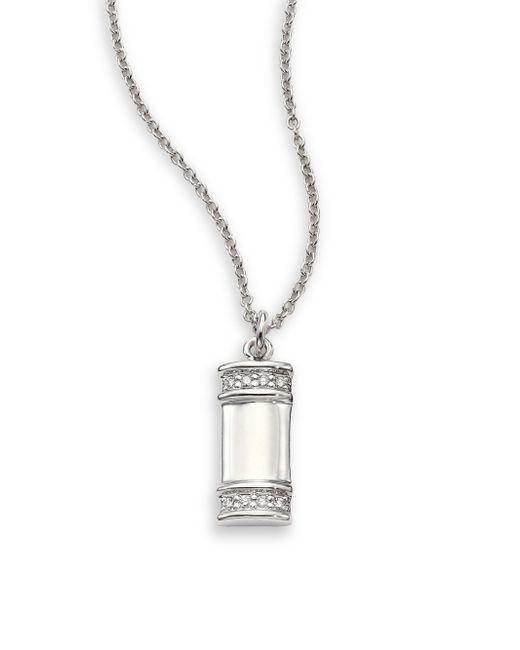 Kwiat | White 'sunburst' Diamond Teardrop Pendant Necklace | Lyst