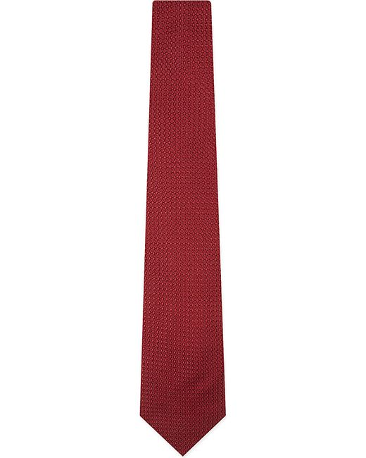 Lanvin | Red Knitted Silk Tie for Men | Lyst