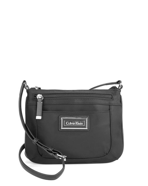 Calvin Klein   Black Nylon Crossbody Bag   Lyst