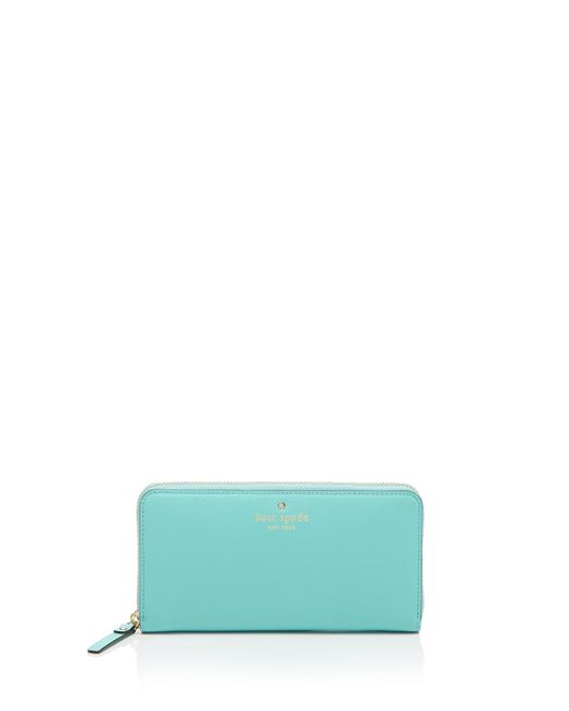 Kate Spade   Blue Wallet - Cedar Street Lacey Continental   Lyst