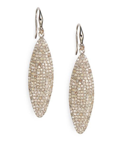 Bavna | Metallic Diamond & Sterling Silver Drop Earrings | Lyst