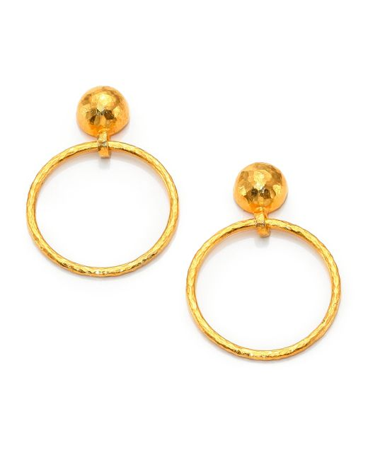 Gurhan | Metallic Hoopla 24k Yellow Gold Geometric Geo Drop Hoop Earrings | Lyst