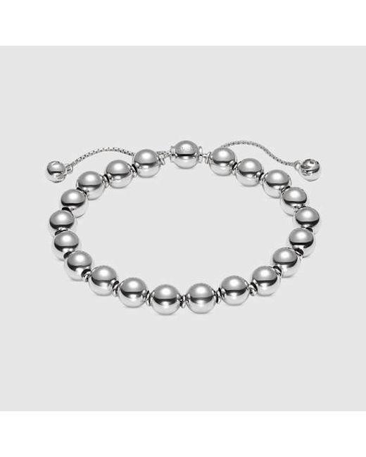 Gucci | Metallic Sterling Silver Boule Bracelet | Lyst