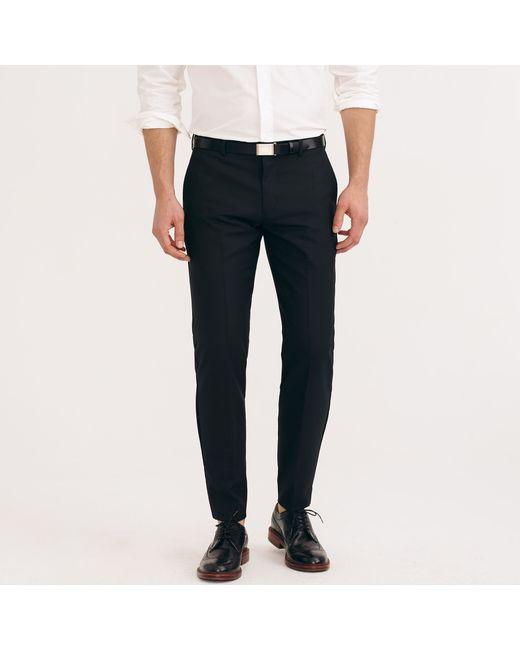 J.Crew | Black Ludlow Suit Pant In Italian Wool for Men | Lyst