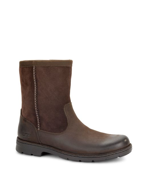 UGG | Brown Foerster Leather Boots for Men | Lyst