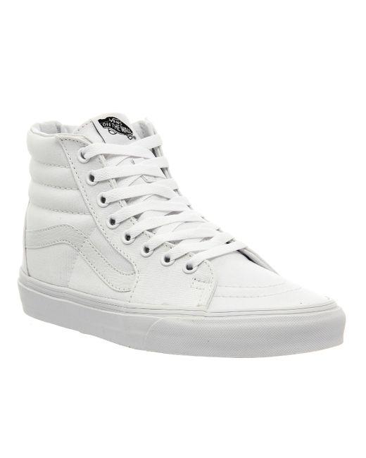 Vans   White Sk8- Hi Slim Zip   Lyst