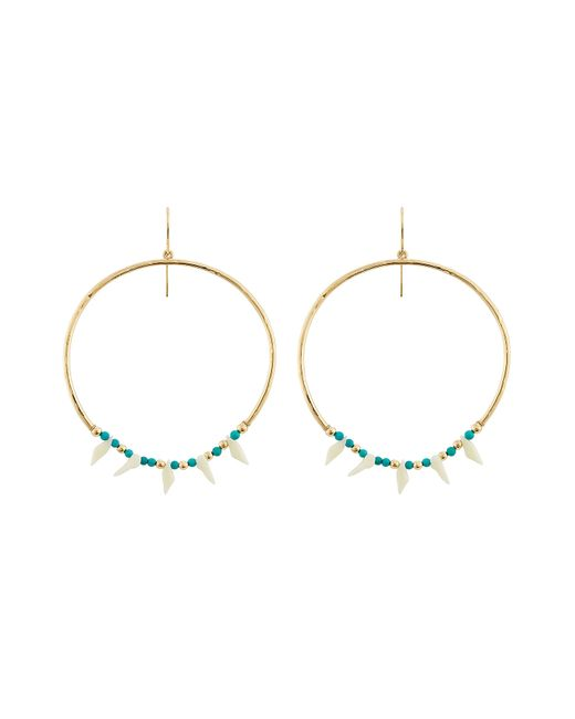 Aurelie Bidermann | Blue Aurélie Bidermann Kreolen Squaw Turquoise-pearl Earrings - Gold | Lyst