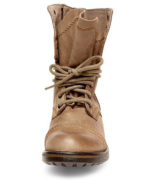 Steve Madden Tropa 2 0 Combat Boots In Beige Stone
