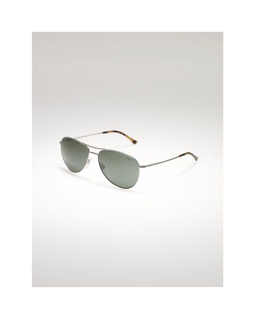 Polo Ralph Lauren | Metallic American Pilot Sunglasses for Men | Lyst
