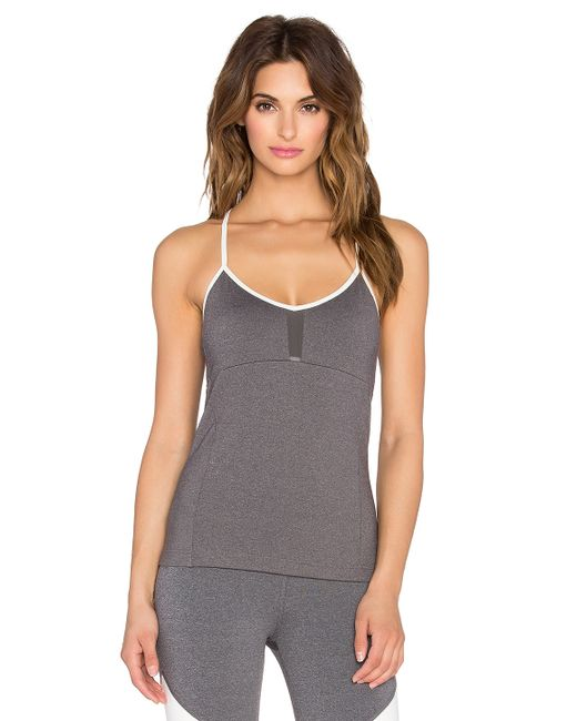 Alo Yoga Via Tank With Built In Bra In Gray