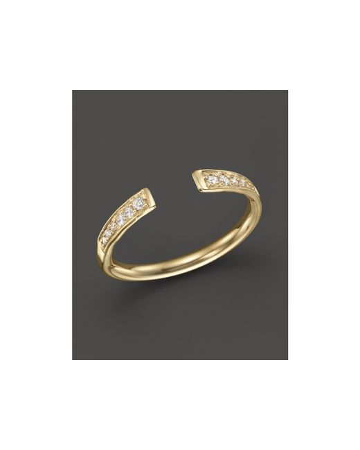 Zoe Chicco | Metallic 14k Gold And Diamond Open Ring | Lyst