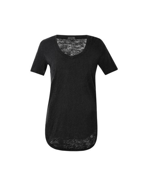 ATM - Black Stretch Modal V-neck T-shirt - Lyst