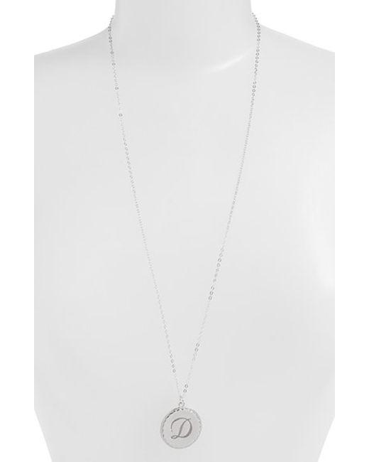 Moon & Lola | Metallic 'dalton' Long Initial Pendant Necklace | Lyst