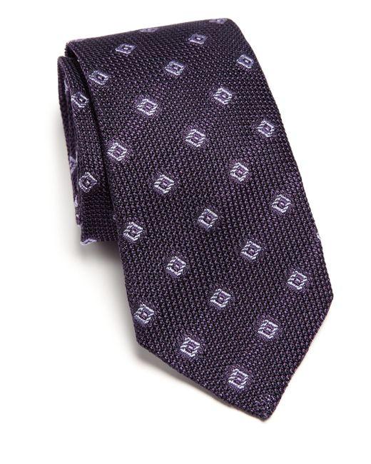 Ike Behar   Purple Grenadine Silk Tie for Men   Lyst