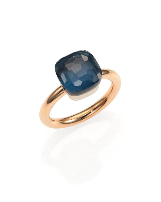Pomellato | Pink Nudo London Blue Topaz & 18k Rose Gold Ring | Lyst