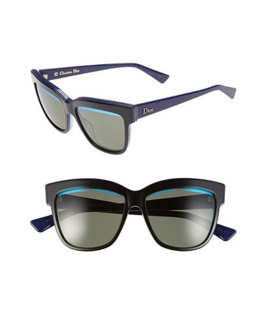 92a380cc42 Dior 55mm Cat Eye Sunglasses in Green (black  blue  green)