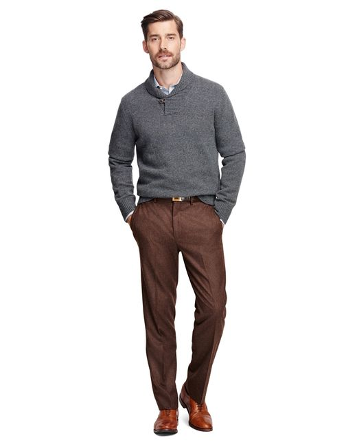 Brooks Brothers | Brown Own Make Wool Trousers for Men | Lyst