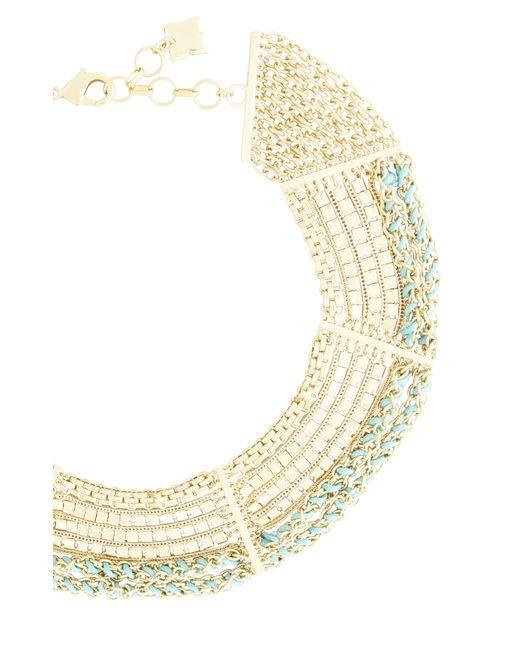 BCBGMAXAZRIA | Metallic Chain And Cord Necklace | Lyst