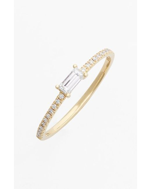 Bony Levy | Metallic Stackable Baguette Diamond Ring | Lyst