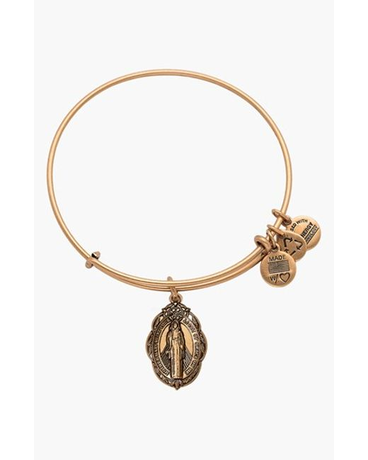 ALEX AND ANI | Metallic 'mother Mary' Wire Bangle | Lyst