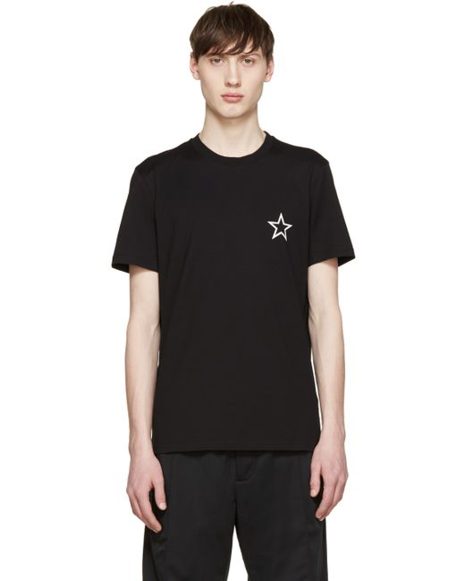 Givenchy black star t shirt in black for men lyst for Givenchy t shirts for sale